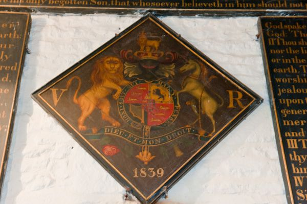 Wold Newton, All Saints Church photo, Royal coat of arms