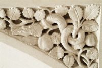 Woodchester Mansion, Serpent carving