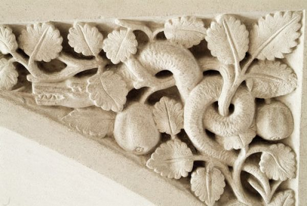 Woodchester Mansion photo, Serpent carving