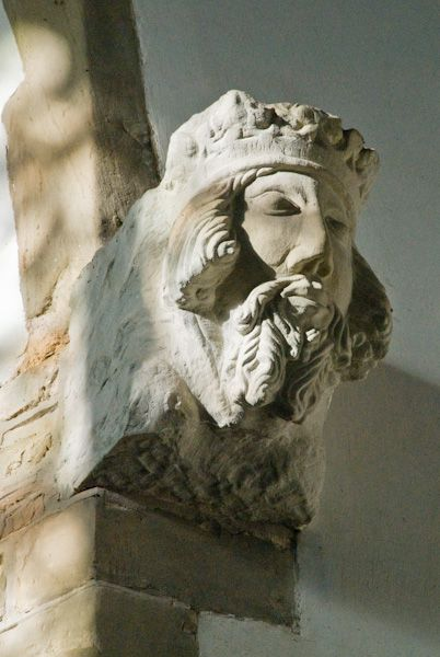 Wootton Wawen, St Peter's Church photo, Edward III carving