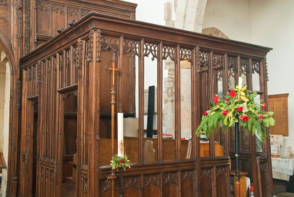 Wootton Wawen, St Peter's Church photo, 15th century parclose screen