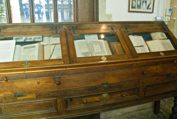 Wootton Wawen, St Peter's Church photo, Chained library