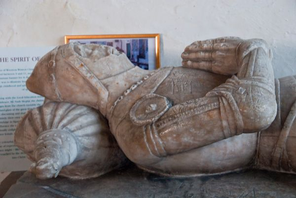 Wootton Wawen, St Peter's Church photo, Harewell effigy detail