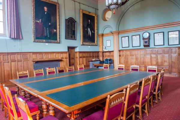 Worcester Guildhall photo, The old courtroom