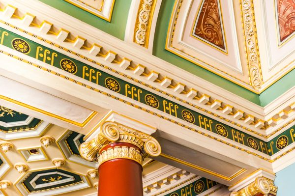 Worcester Guildhall photo, Detail of the Assembly Room decoration