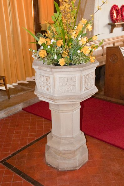 Wormingford, St Andrew's Church photo, The font
