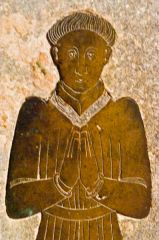 Wormingford, St Andrew's Church, Memorial brass c. 1460
