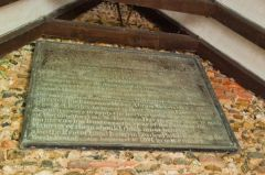 Wormingford, St Andrew's Church, Dedication board