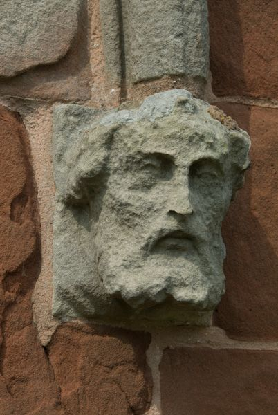 Wroxeter, St Andrew's Church photo, Carved head