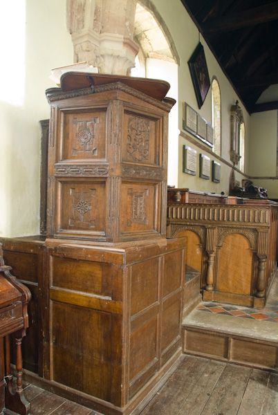Wroxeter, St Andrew's Church photo, Jacobean pulpit