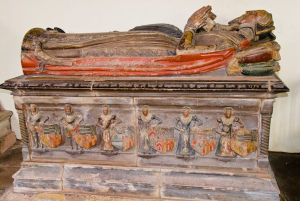 Wroxeter, St Andrew's Church photo, Newport tomb