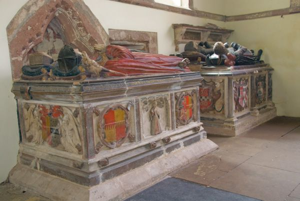 Wroxeter, St Andrew's Church photo, Elizabethan tombs