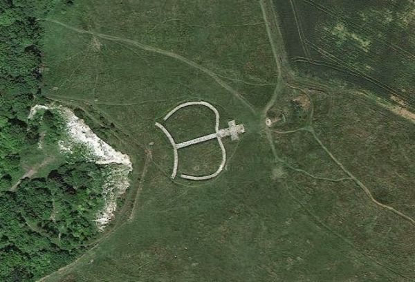 The Wye Crown from Google Earth