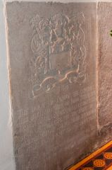 Wylye, St Mary's Church, 18th century grave slab in the sanctuary