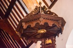 Wylye, St Mary's Church, Ornate Jacobean tester