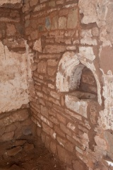 12th century piscina in the chancel