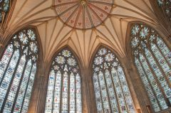 Chapter House vaulting and window tracery