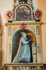 York, St Denys Walmgate Church, 17th century Dorothy Hughes memorial