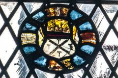 A roundel of medieval glass