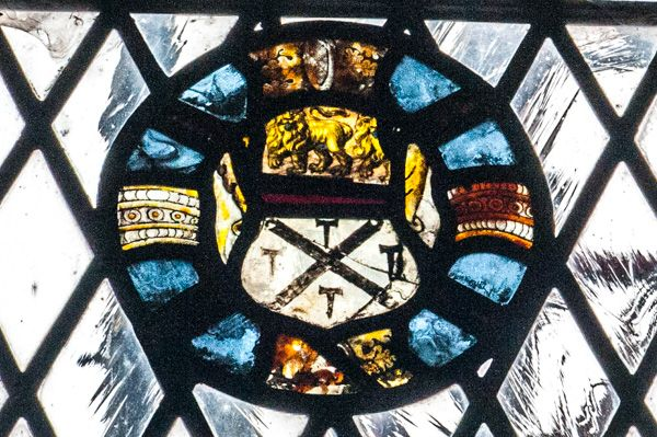 York, St Helen Stonegate photo, A roundel of medieval glass