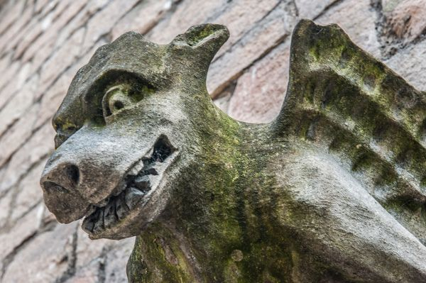 York, St Martin Coney Street photo, Gargoyle on the exterior wall