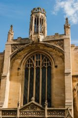 The west window and lantern tower