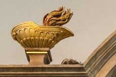 Squire memorial, gilded urn