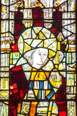 York, St Olave's Church, Detail from the 15th century east window