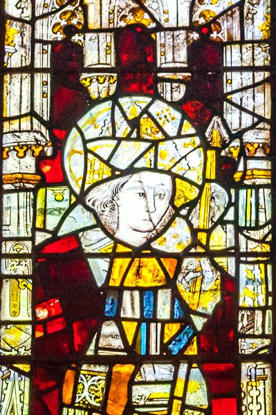 York, St Olave's Church photo, Detail from the 15th century east window