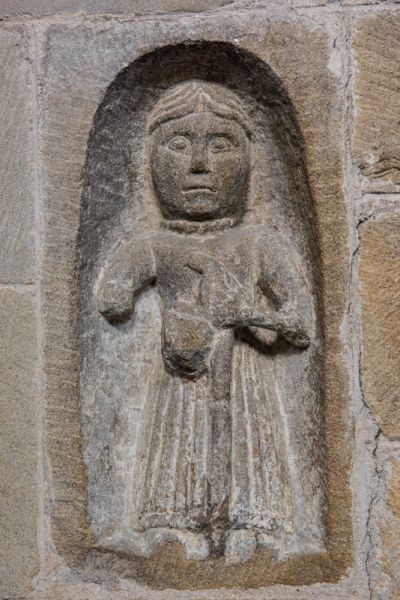 Youlgreave, All Saints Church (Youlgrave) photo, 12th century pilgrim carving