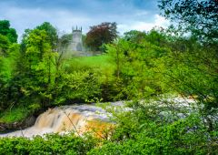 Aysgarth, Middle Falls and St Andrew's church