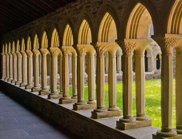 Cloister Definition Illustrated Dictionary Of British
