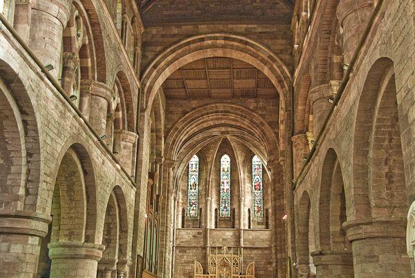 Shrewsbury Abbey Nave Shropshire