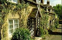 Cotswold stone cottages in Winchcombe