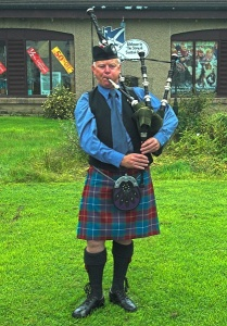 Piper at the Scottish <br />Woolen Centre in Aberfoyle