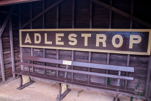 All that remains of Adlestrop rail station