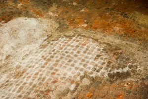 Roman pavement in the crypt