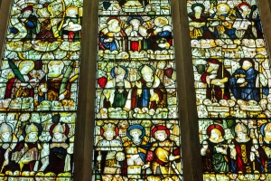 14th century west window glass