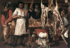 The Butcher Shop, by Annibale Carracci, 1580