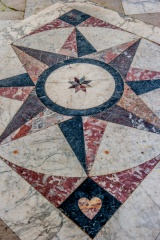 The marble floor in the Drawing Room
