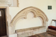 11th century grave slab in the chancel