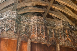 Rood loft decorative carving