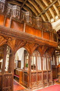 The 16th century screen and rood loft