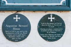 Plaque erected by local history society