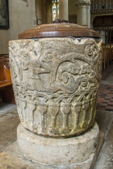 Early Norman font