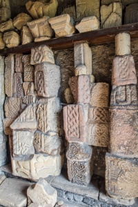 Saxon carved stones in the porch