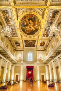 The interior of Banqueting House, Whitehall