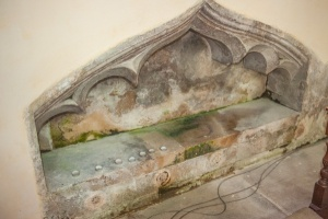 14th century recess, north chancel wall