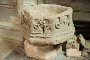 15th century Spargrove font bowl