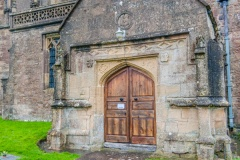 The Jacobean porch of Batcombe church